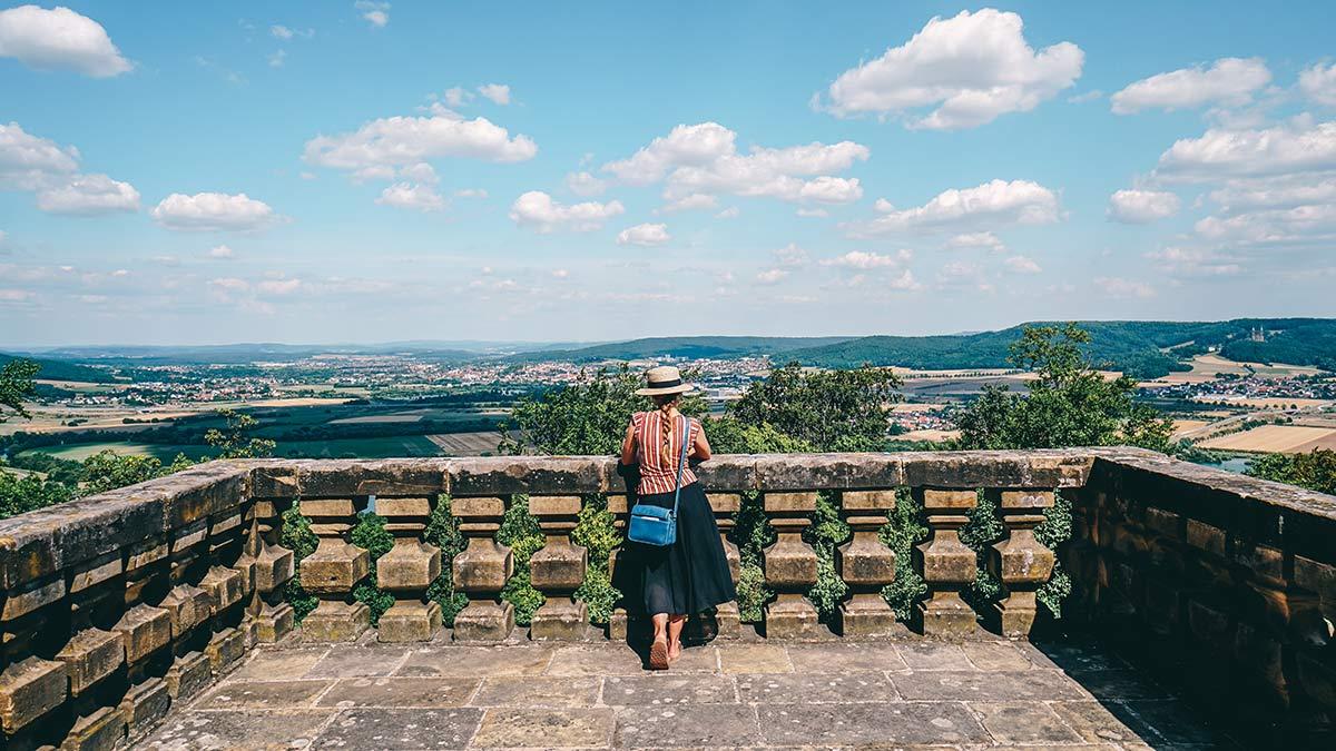 Aussicht der Terrasse vom Kloster Banz