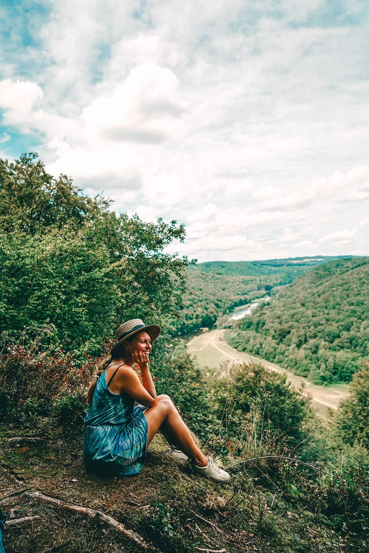 Aussichtspunkt auf der Wanderung rund um Bouillon