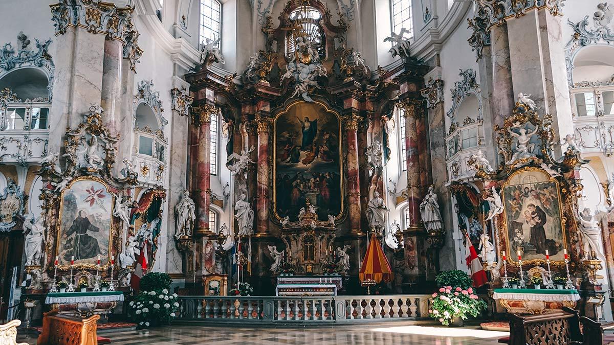 Blick auf den Altar Vierzehnheiligen