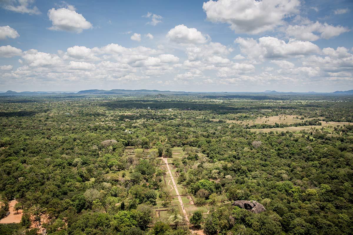 Blick vom Mount Sigiriya in Sri Lanka