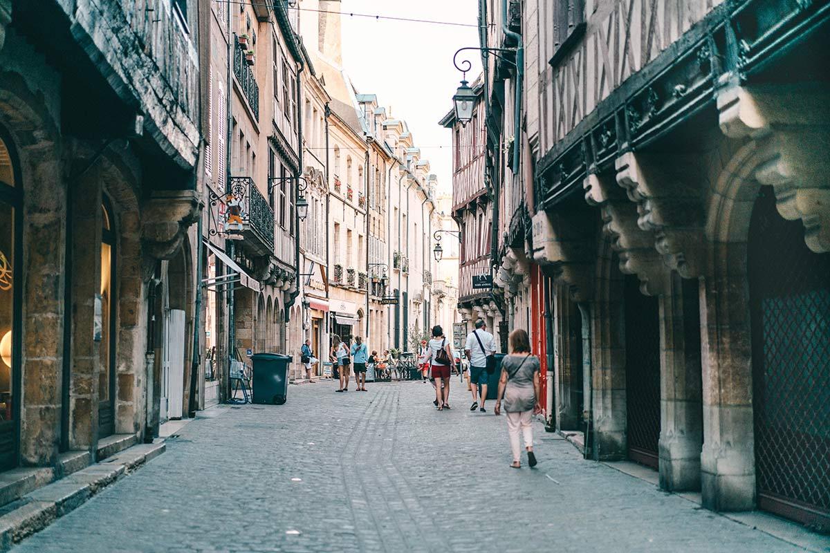 Straßen von Dijon