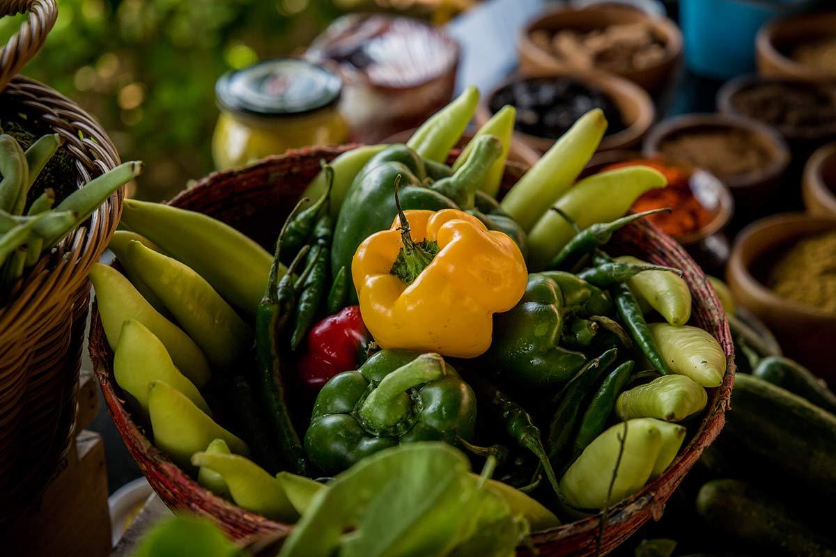 Frische Zutaten fuer Sri Lankas Kueche im Spice Spoons