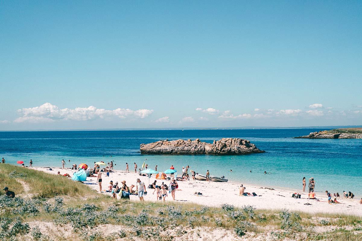 Strand an den Glènan Inseln