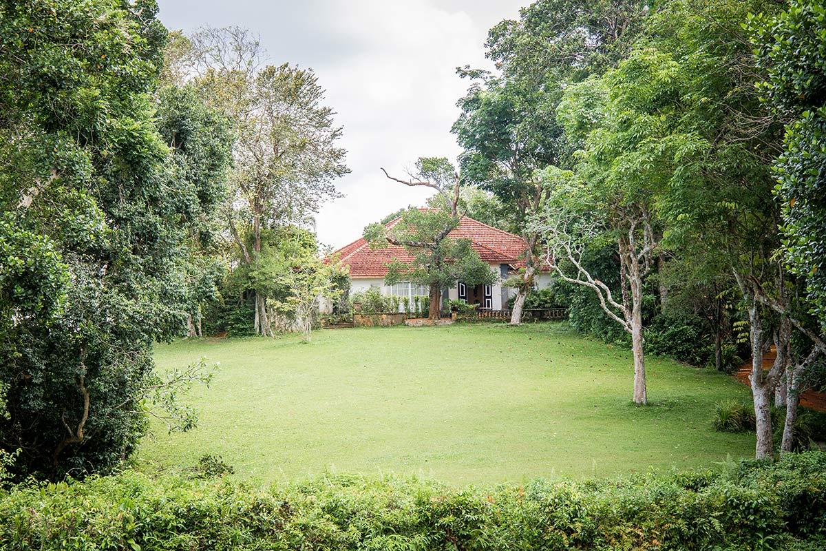 Haupthaus in Geoffrey Bawas Landsitz Lunuganga