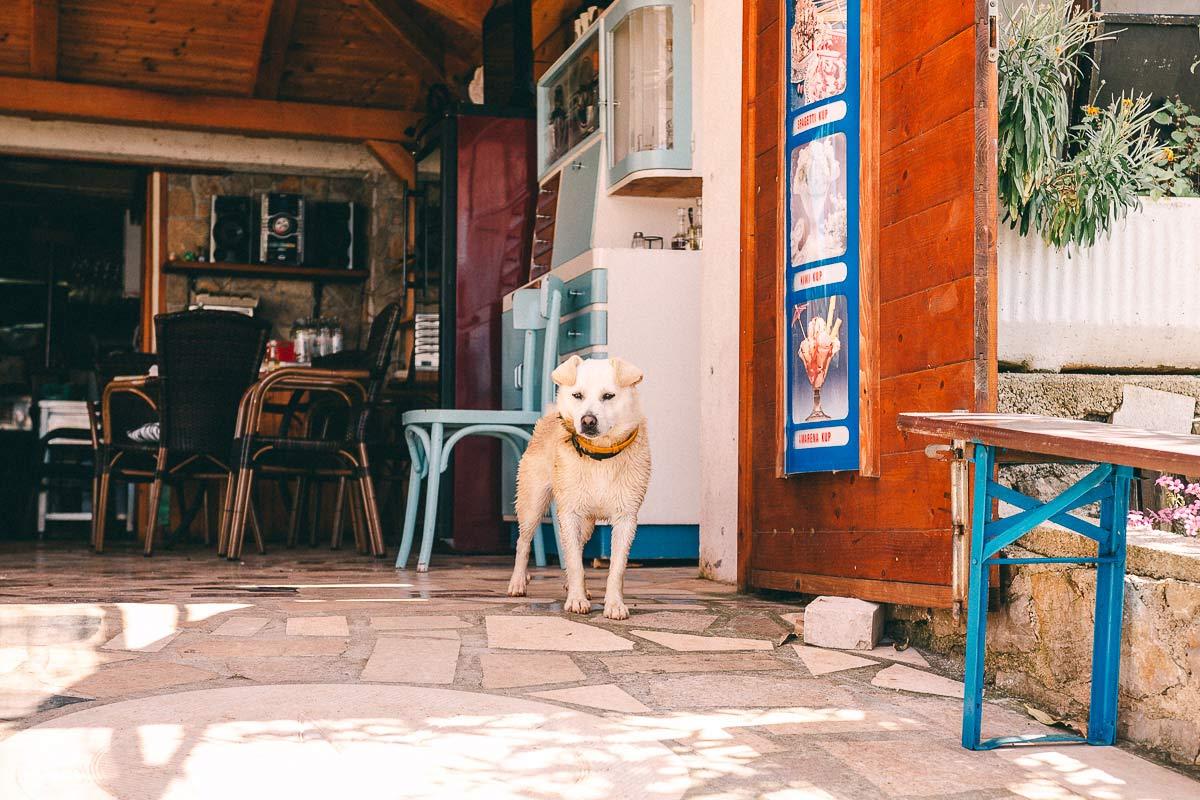 Restaurants auf kleinen Inseln in Kroatien sind per Boot gut zu erreichen