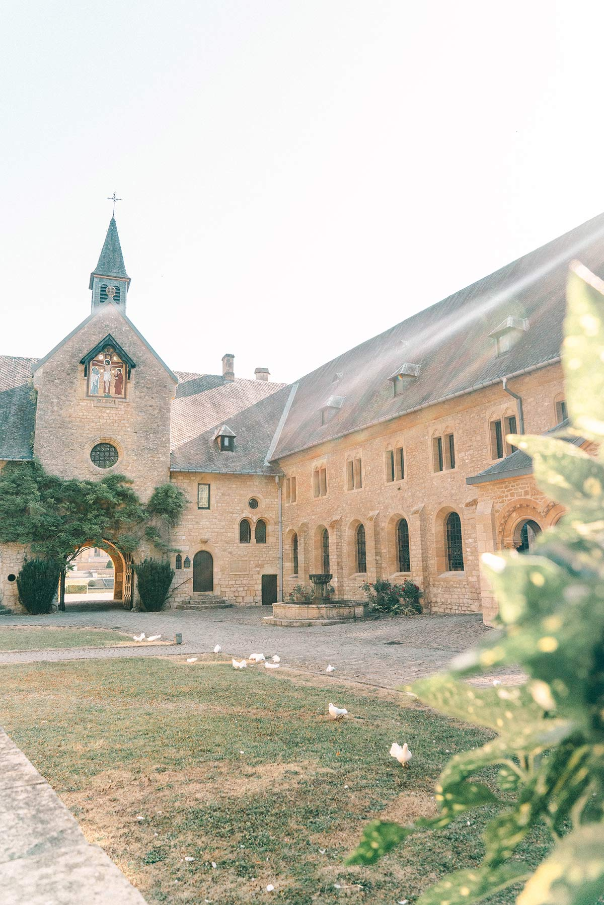Innenhof Abtei Oval