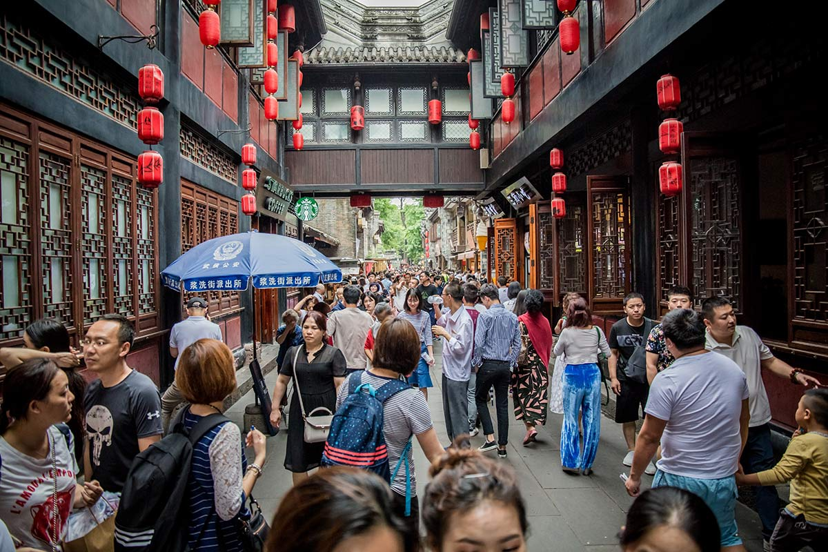 Jinlin Einkaufsstrasse in Chengdu
