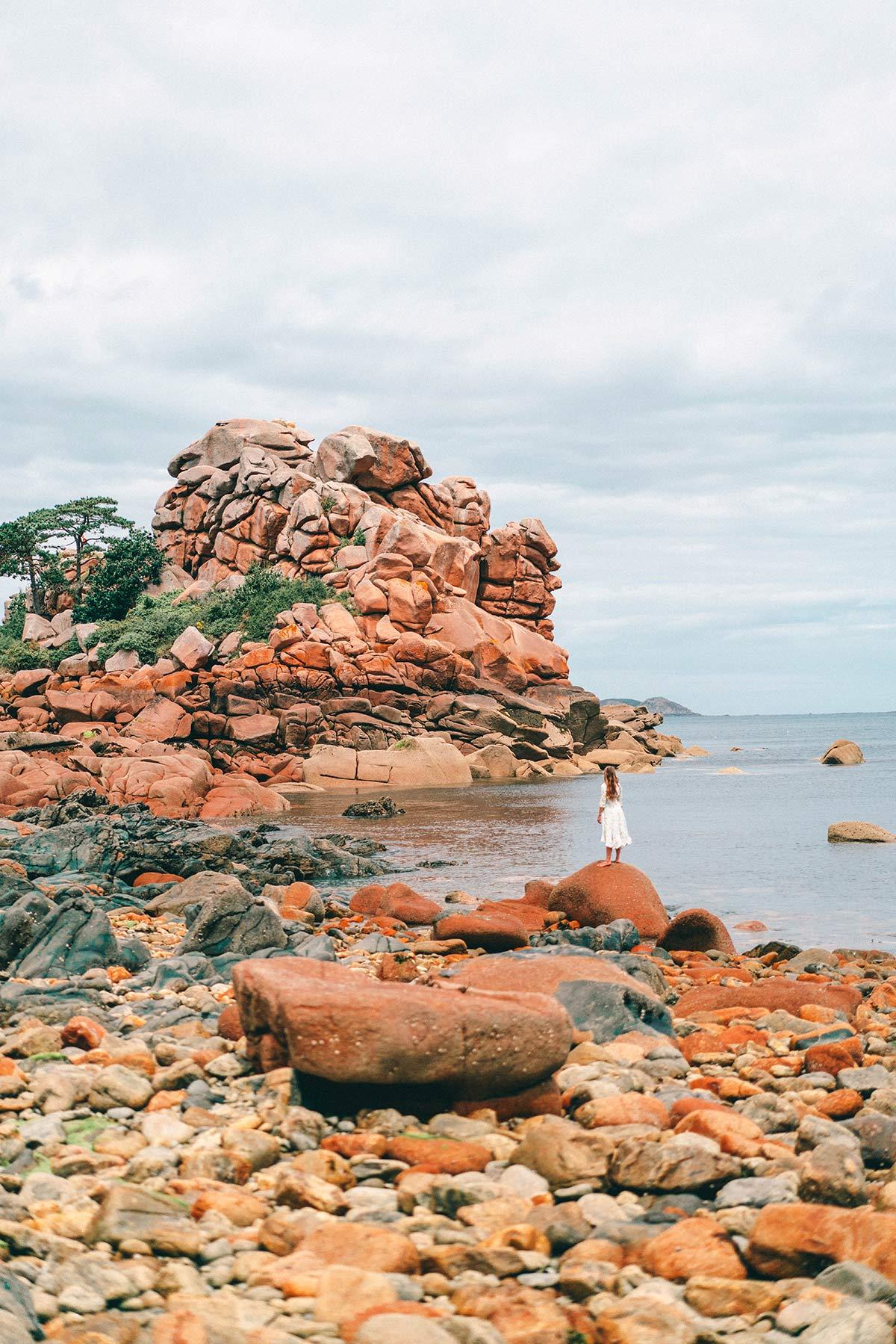 Meer an der Rosa Granitküste