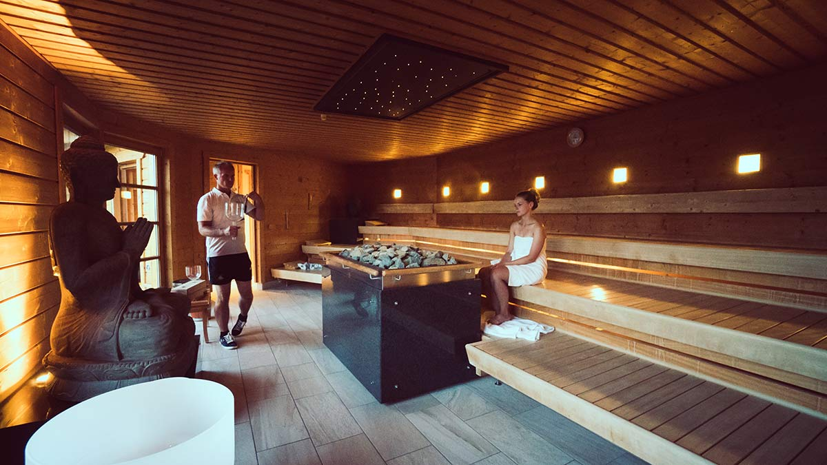 Obermain Therme Sauna der Stille Klangschalen