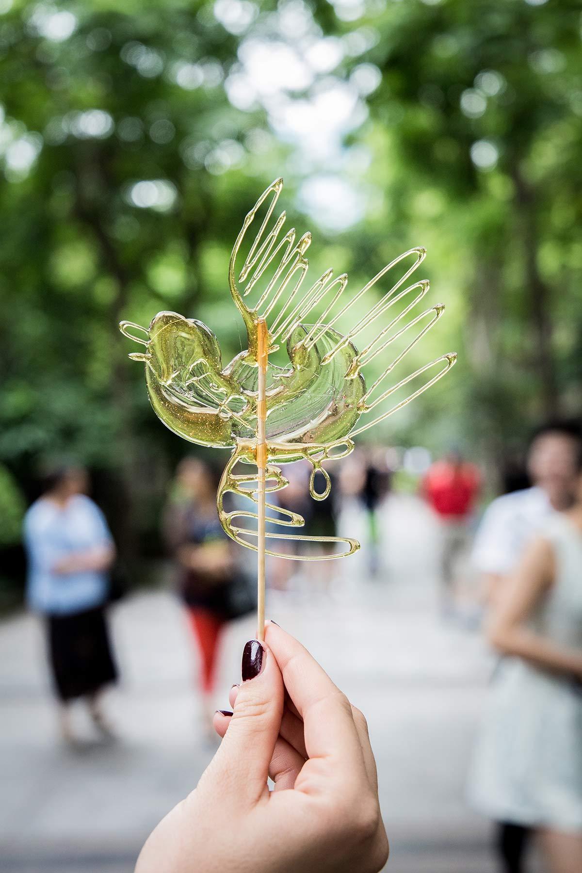 Peoples Park Suessigkeit in Chengdu