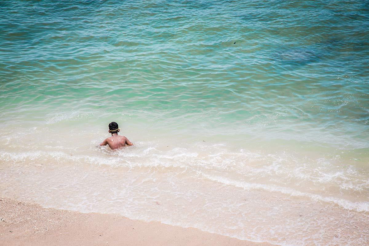 Schwimmen im Indischen Ozean