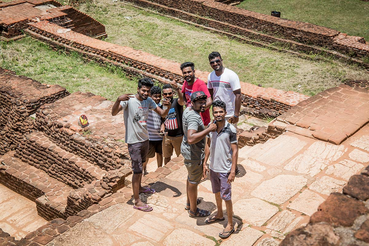 Singhalesen auf Mount Sigiriya