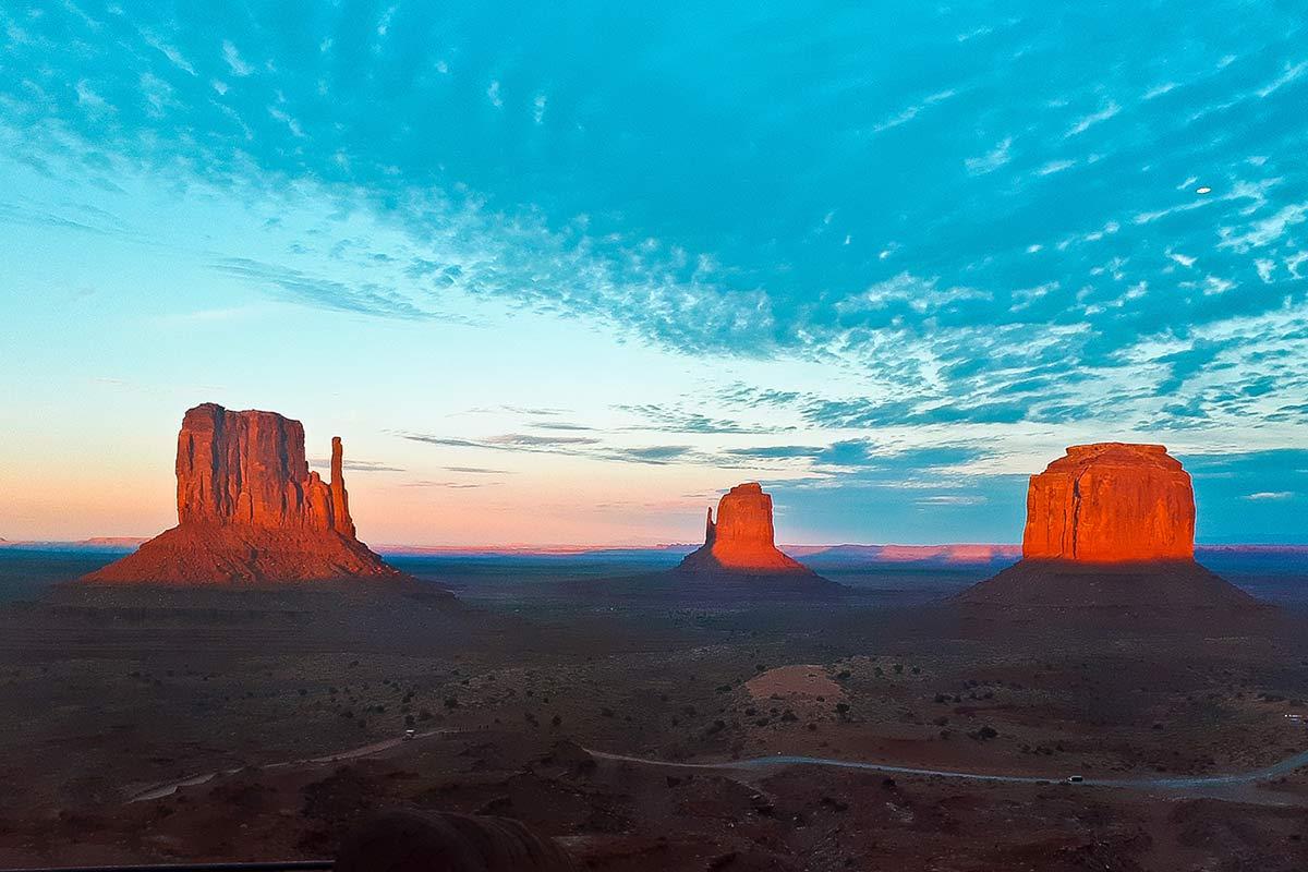 Sonnenuntergang Monument Valley