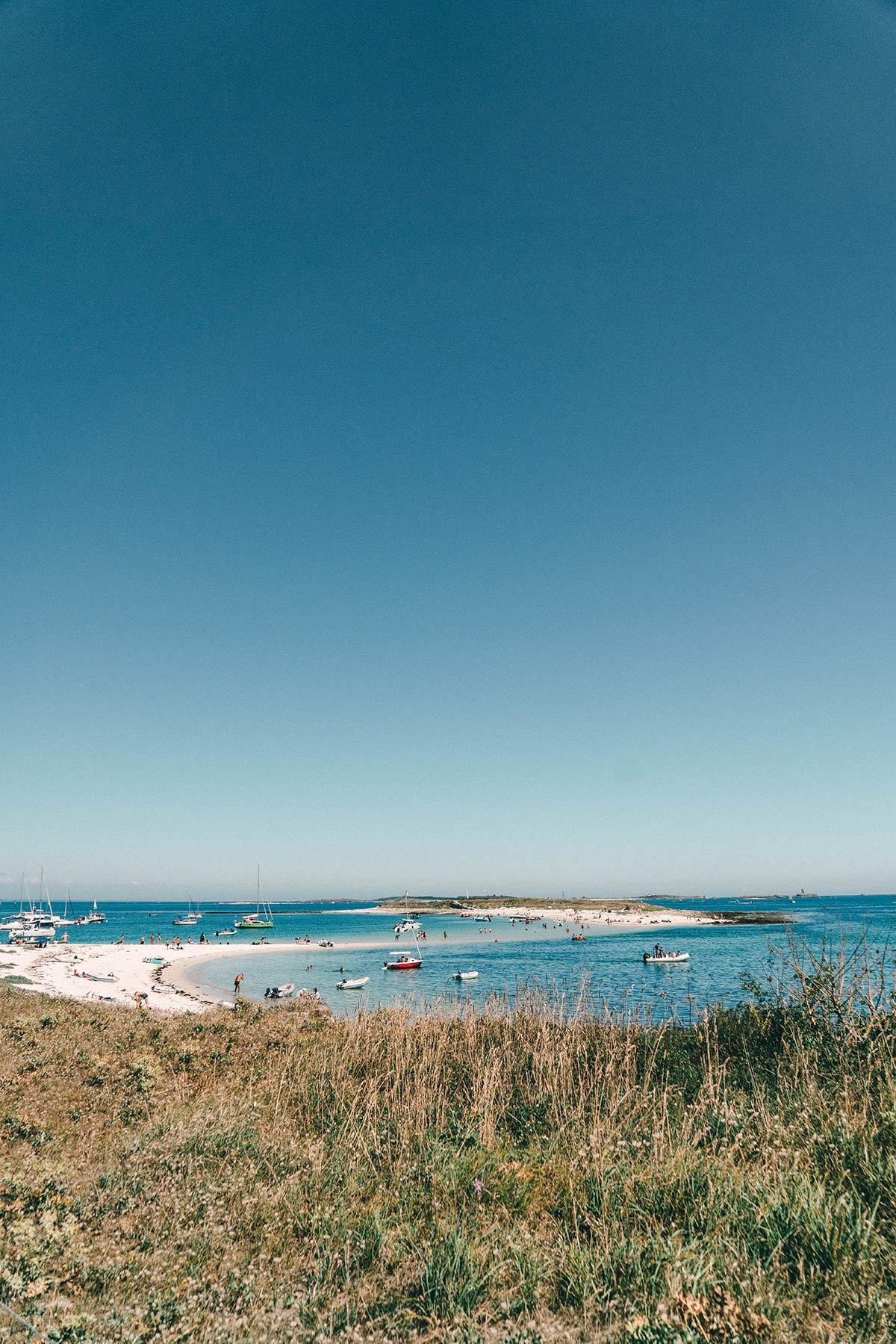 Badestrand der Glènan Inseln