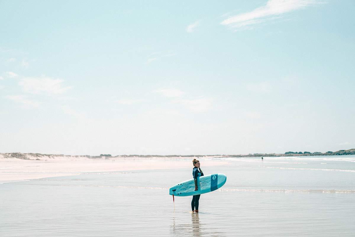 Surfen Bretagne Frankreich