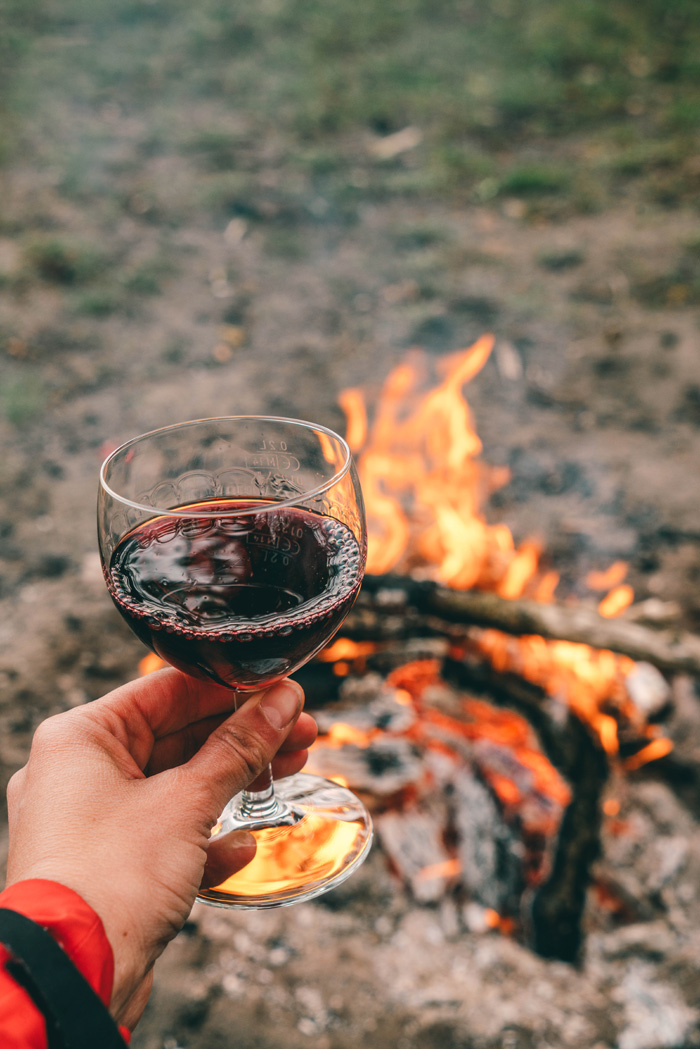 Wein trinken Floss Brandenburg