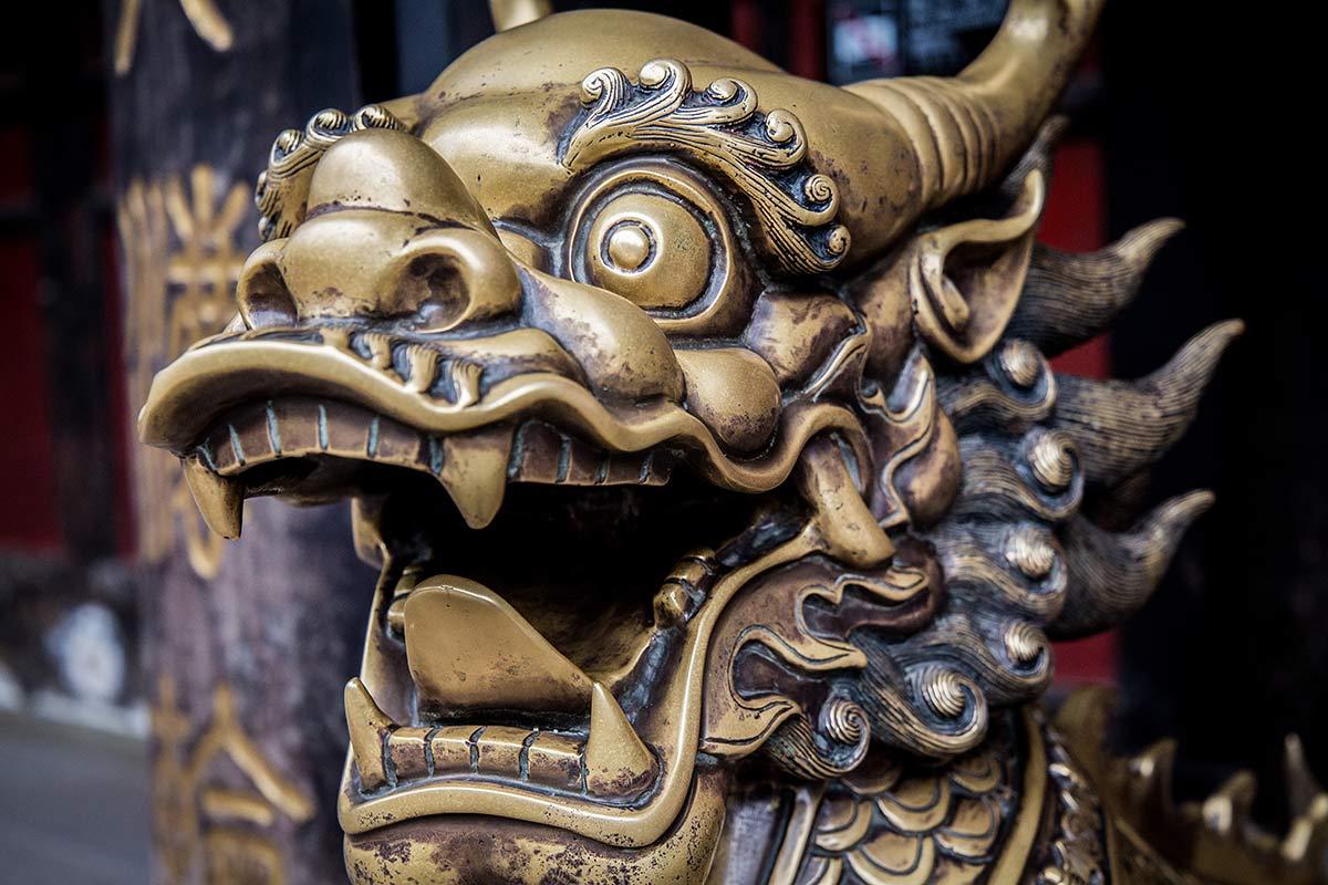 Wenshu Tempel Statue in Chengdu
