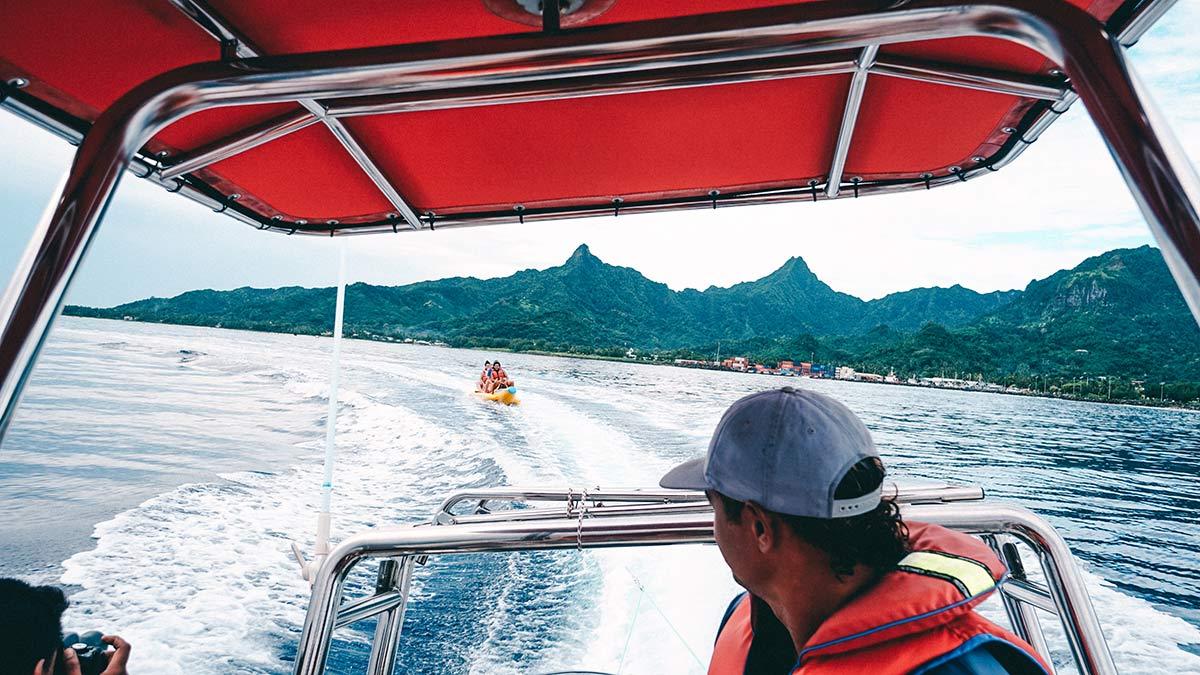 Banane Fahren vor Rarotonga