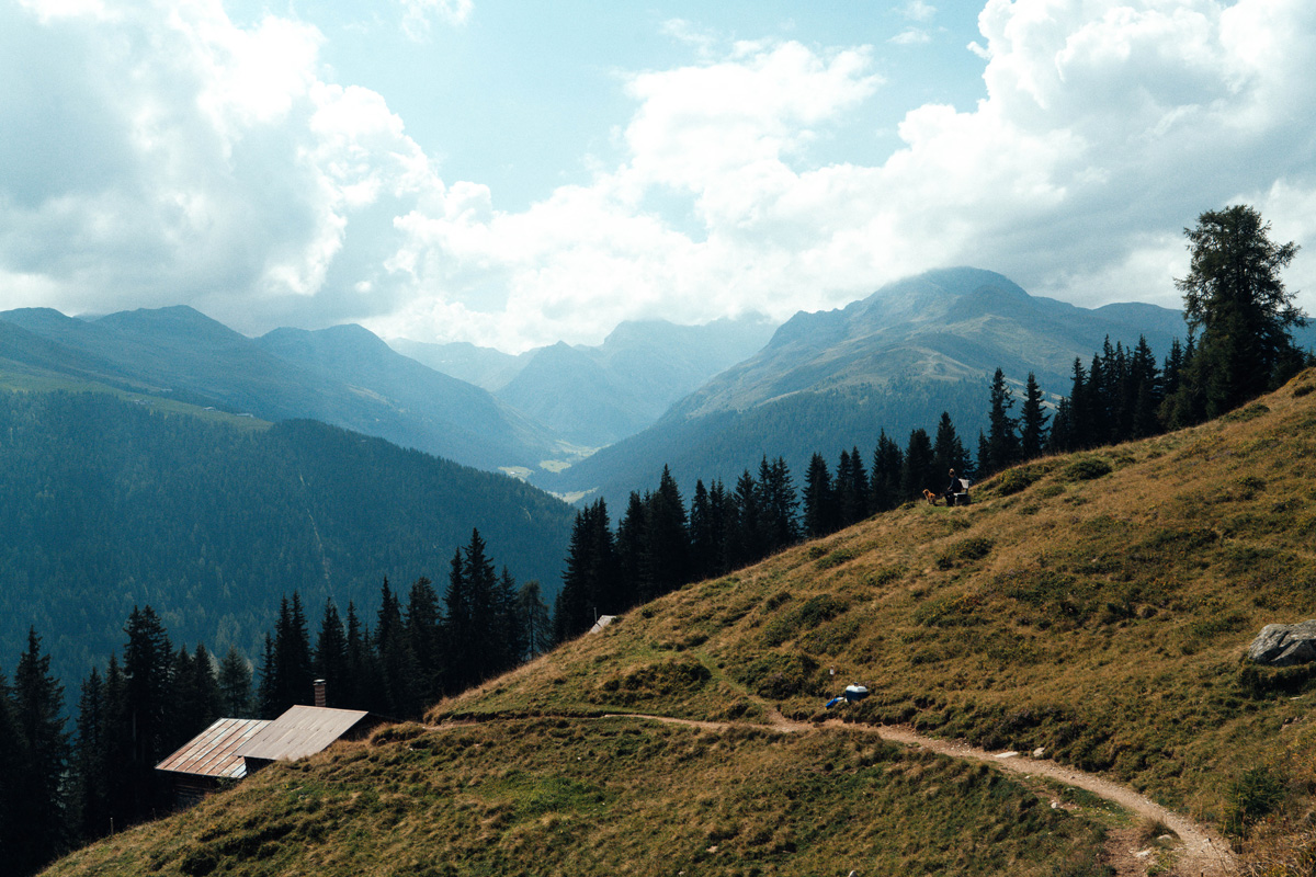 Berglandschaft von Davos
