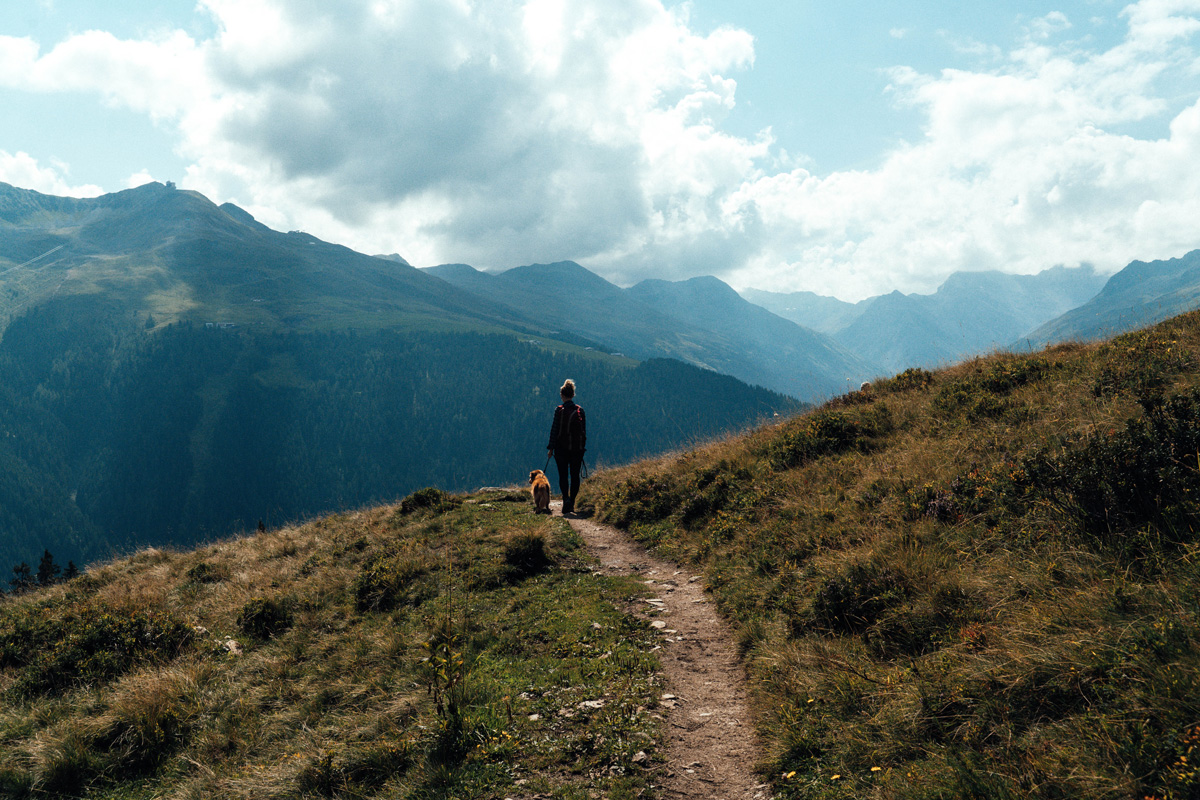 Davos Wanderweg Kirchner Davos Klosters in der Schweiz