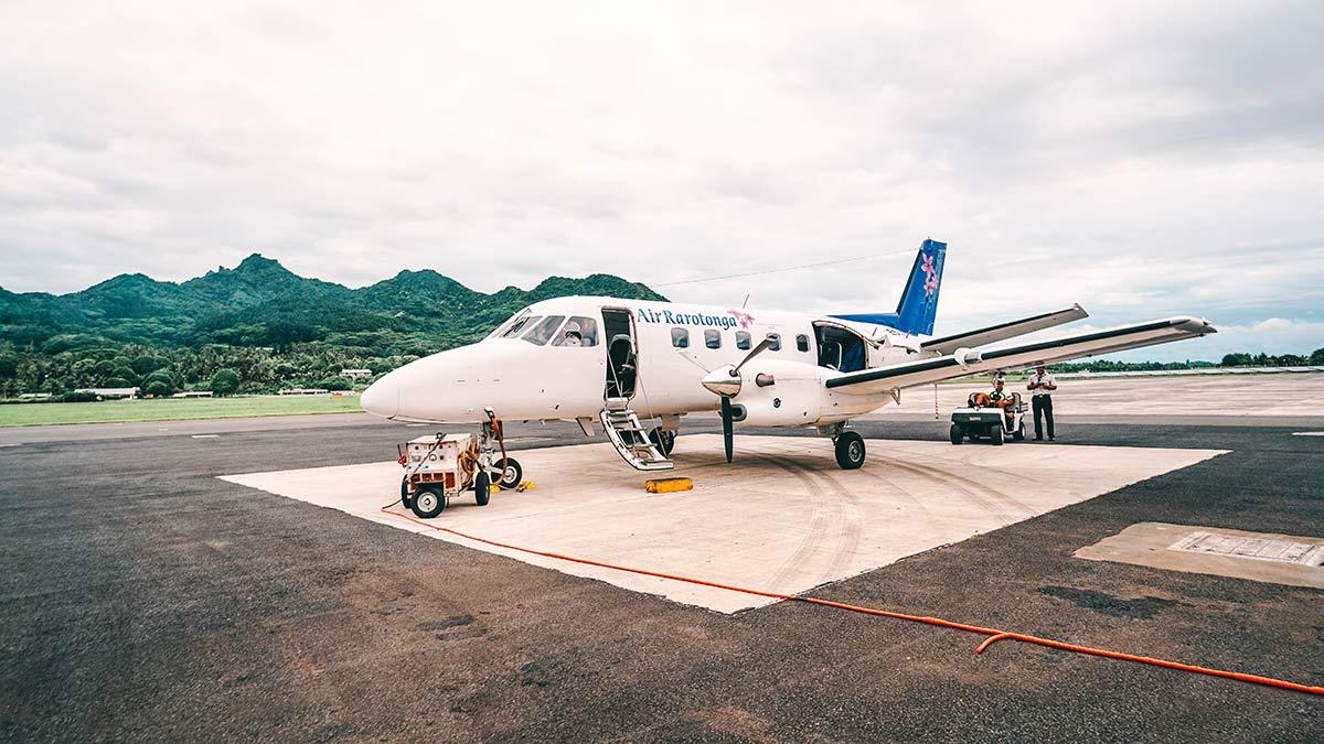 Flug nach Aitutaki von Rarotonga