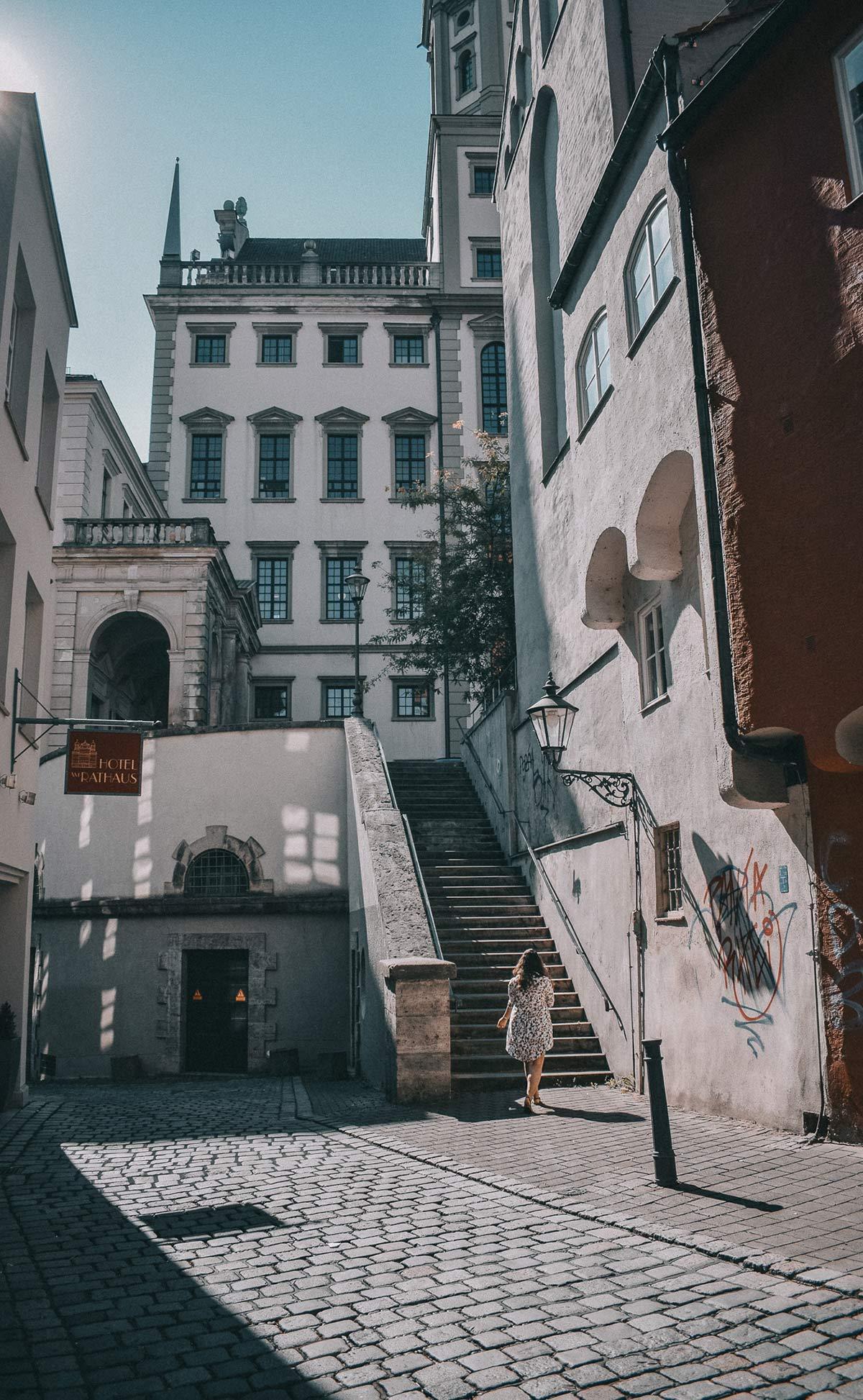 Gassen in Augsburg