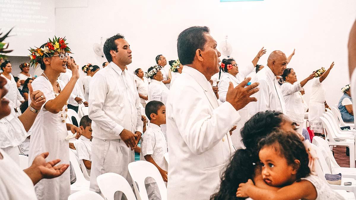 Gottesdienst in der Ngatangiia Church