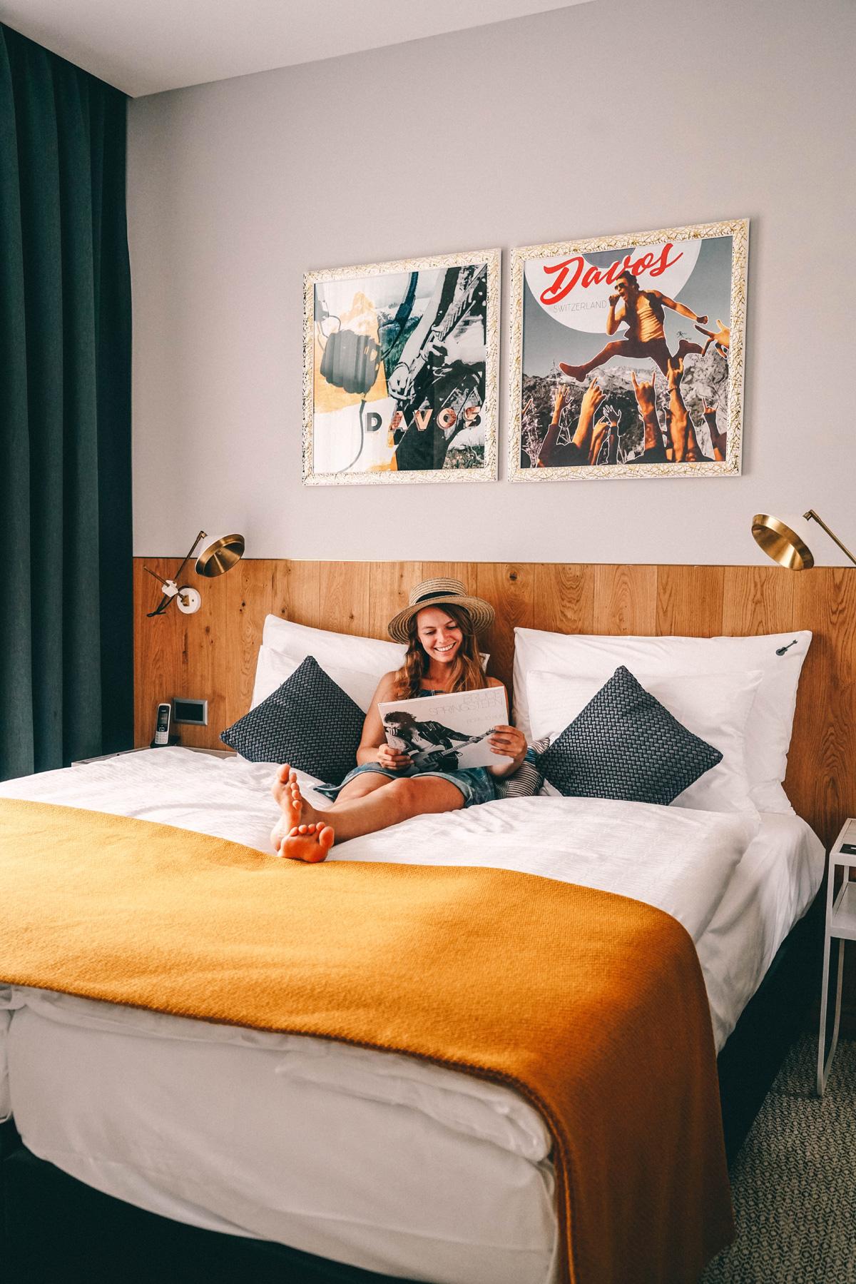 Christine Neder im Hard Rock Hotel Davos
