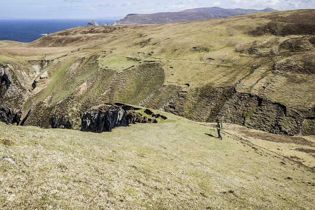 Irland Donegal Glencolumbkille Klippenkante