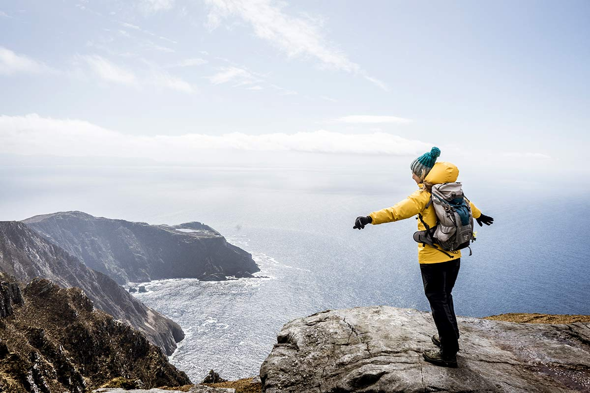 Irland Donegal Slieve Leage Klippen Abgrund