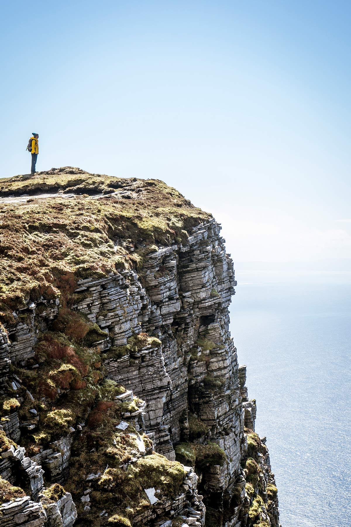 Irland Donegal Slieve Leage Klippen Ausblick