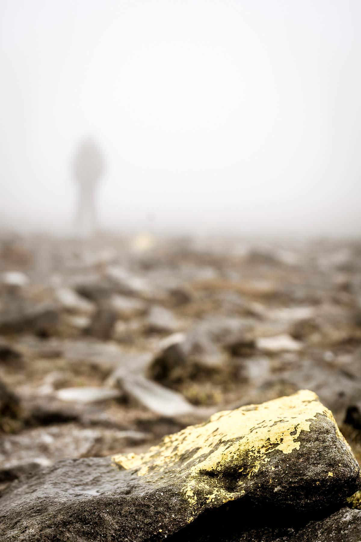 Irland Donegal Slieve Leage Klippen Markierung