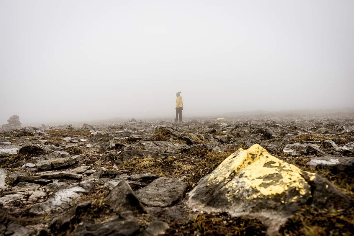 Irland Donegal Slieve Leage Klippen Nebel