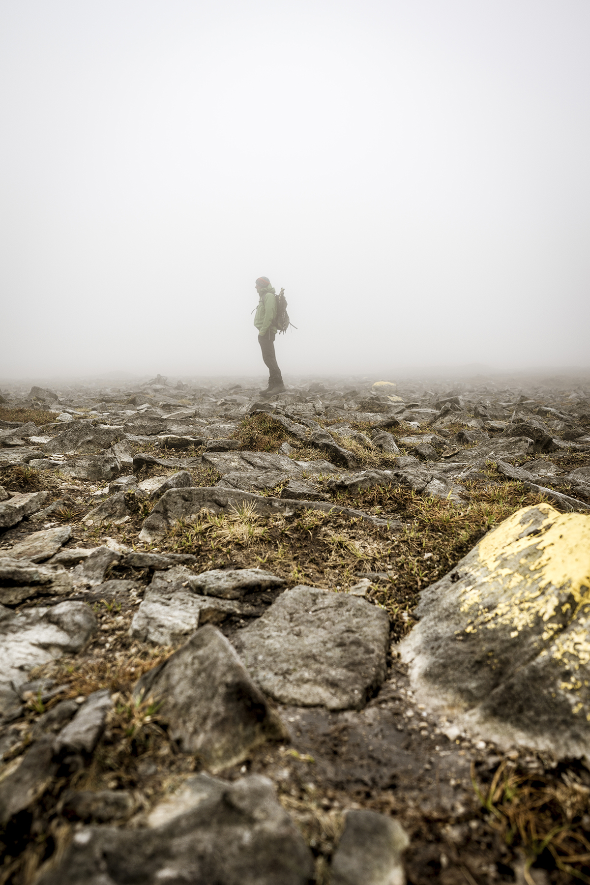 Irland Donegal Slieve Leage Klippen Nebelfeld
