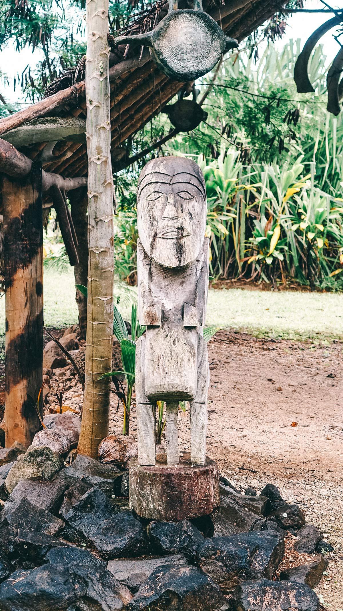 Punarei Cultural Village Statue