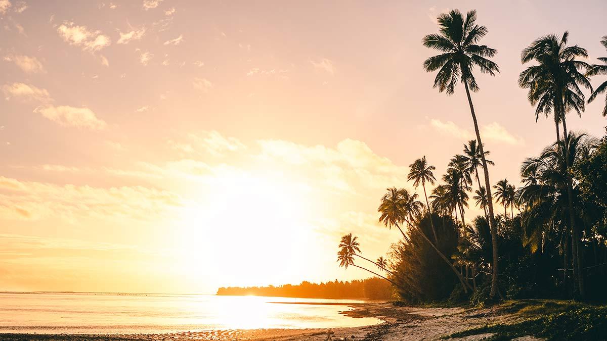 Rarotonga Impressionen Sonnenuntergang