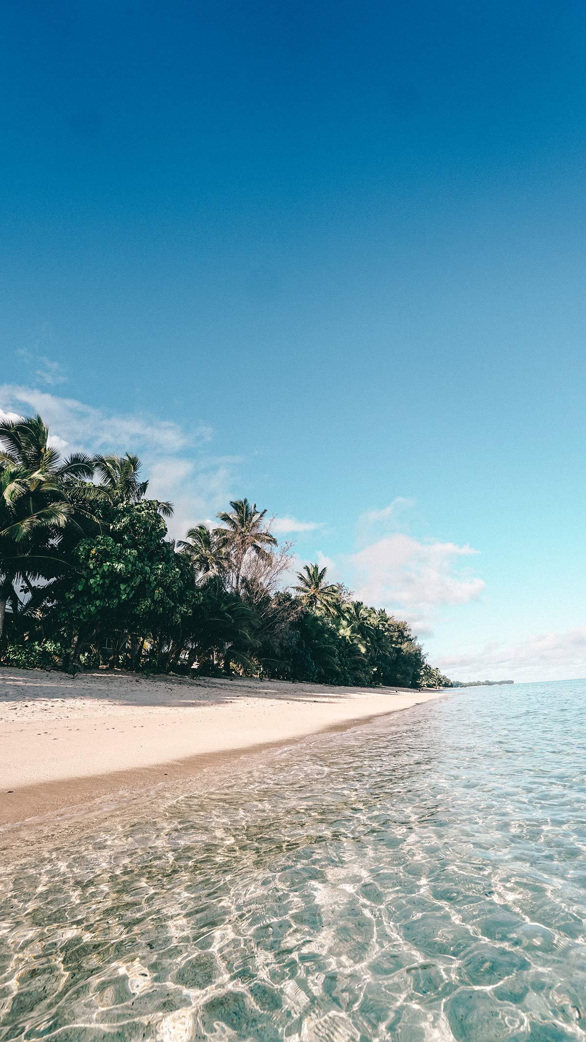 Rarotongas Paradies Strand Moana Sands Villas