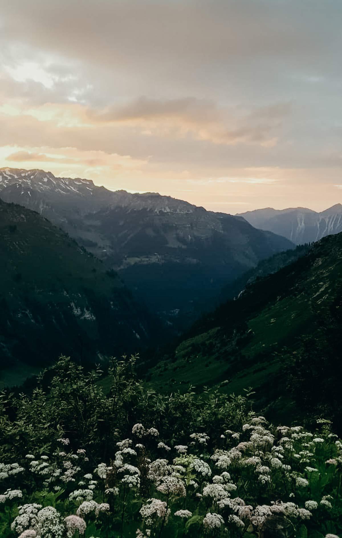 Sonnenuntergang im Allgaeu