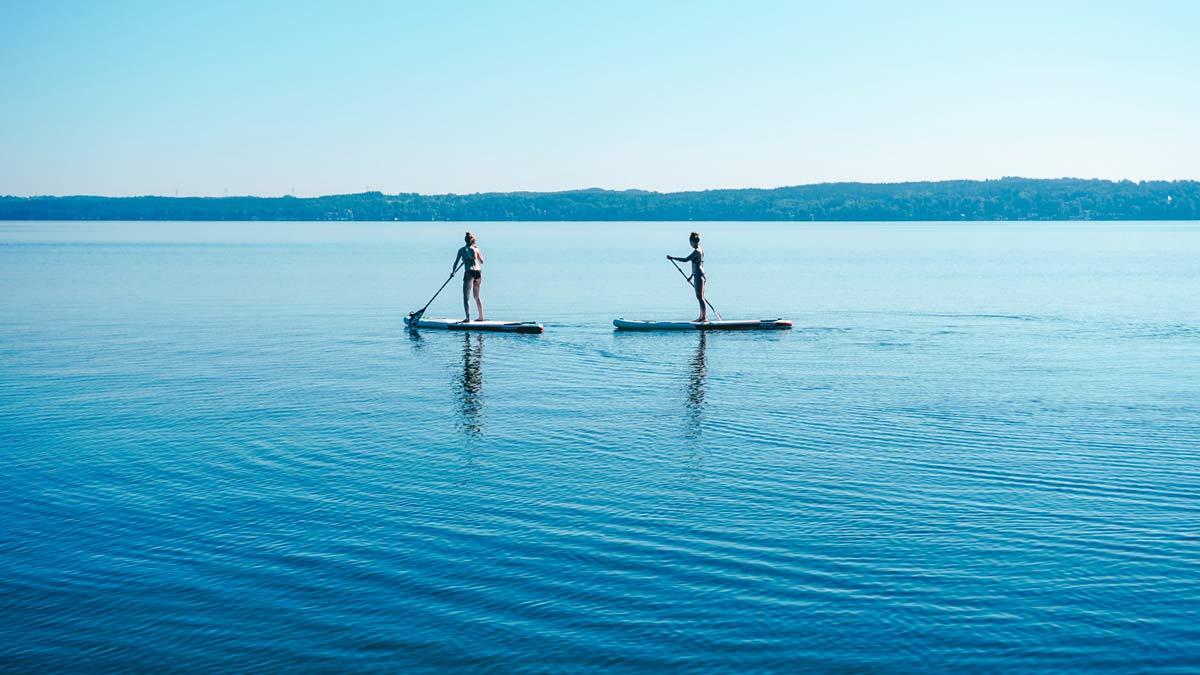 starnberger see sup paddel yoga