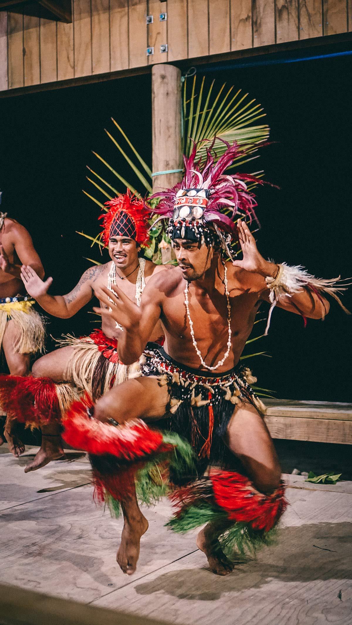 Tänzer der Island Night Aitutaki