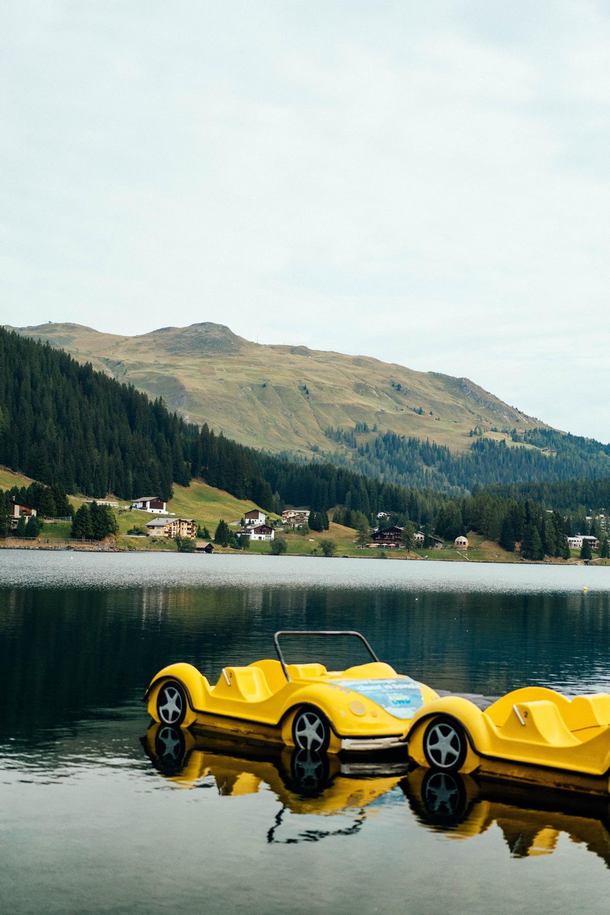 Tretboot fahren am Davoser See