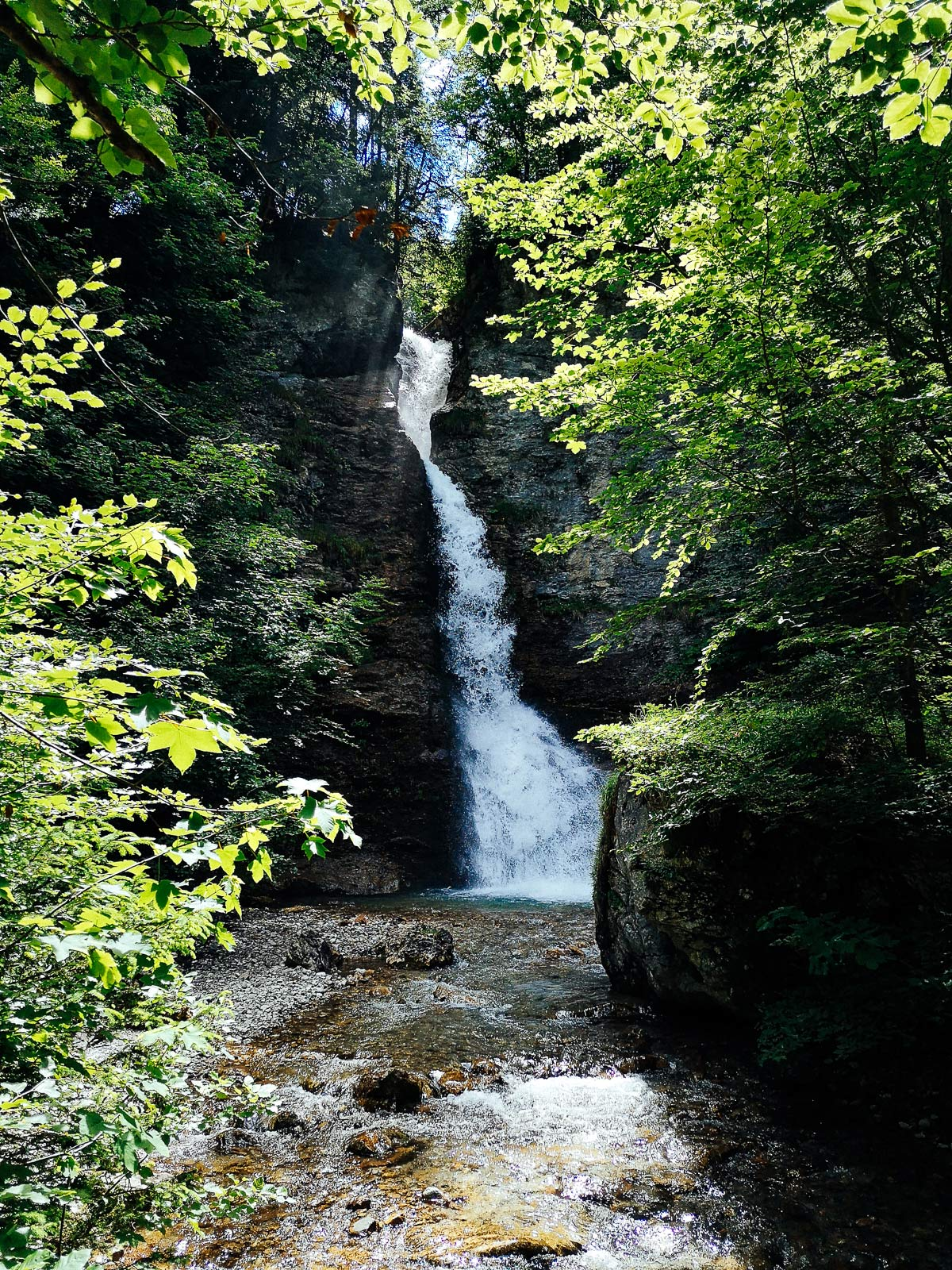 Wasserfall Wanderung zum Prinz Luitpold Haus