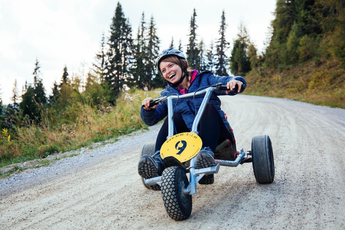 Abfahrt-Mountain-Go-Kart