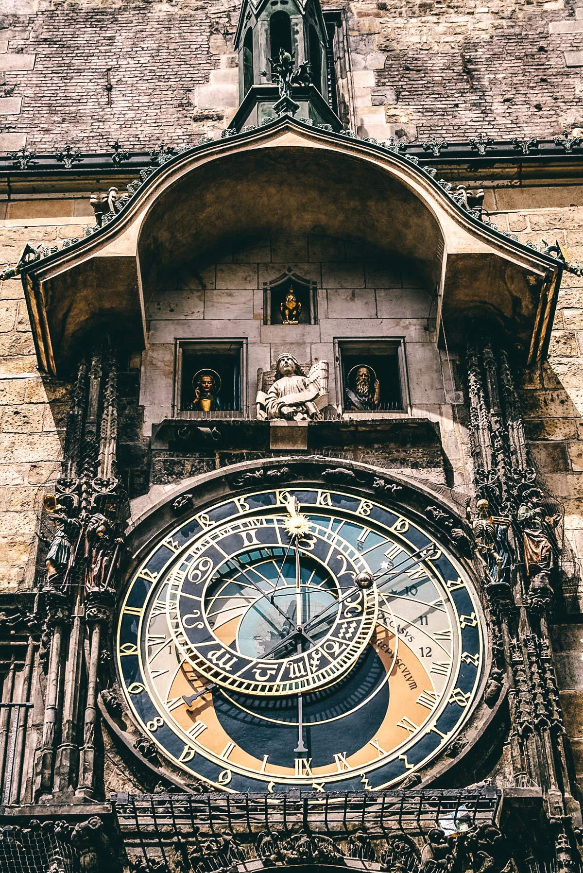 Uhr am Alten Rathaus in Prag