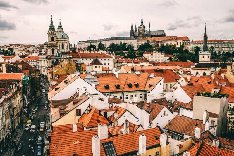 Aussicht auf die Prag Sehenswuerdigkeiten