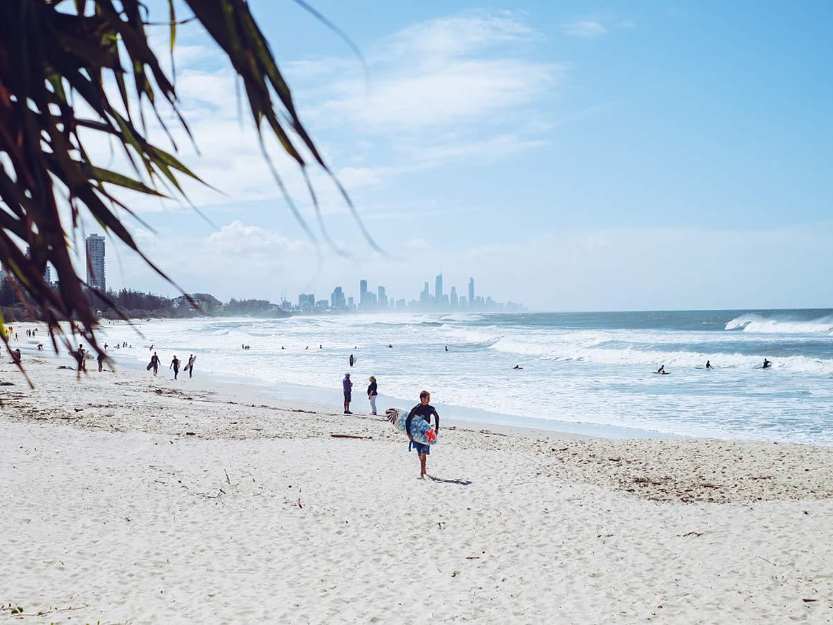 Australien Strand Burleigh Heads