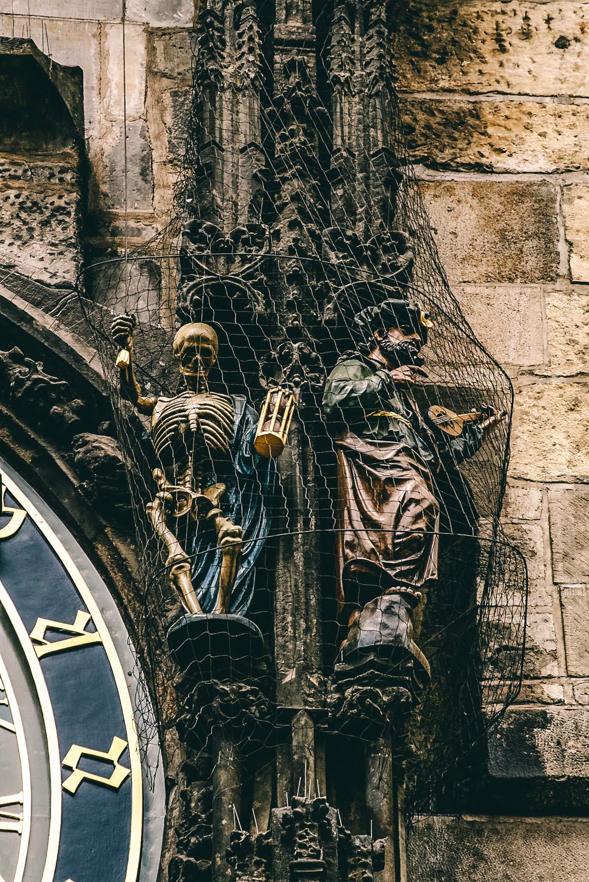 Figuren am alten Rathaus Prag