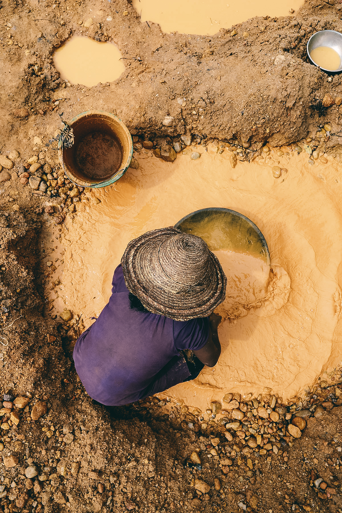 Gold suchen Madagaskar
