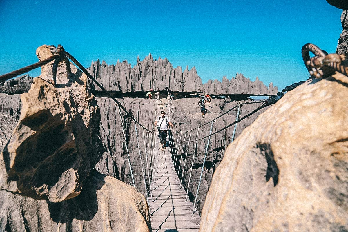 Hängebrücke Tsingy Nationalpark