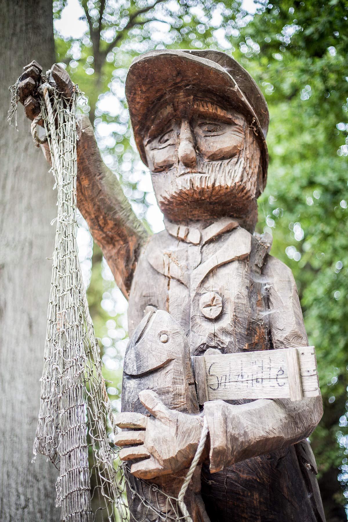 Holzfigur Koserower Salzhuetten